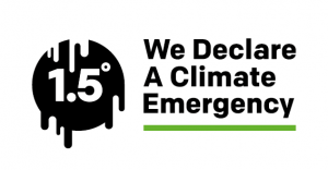 we declare a climate emergency master print white leap About